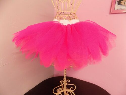 Neon Pink Petal Tutu Skirt 6 Layers I LOVE 80s Fancy Dress Hen Party Fun Run