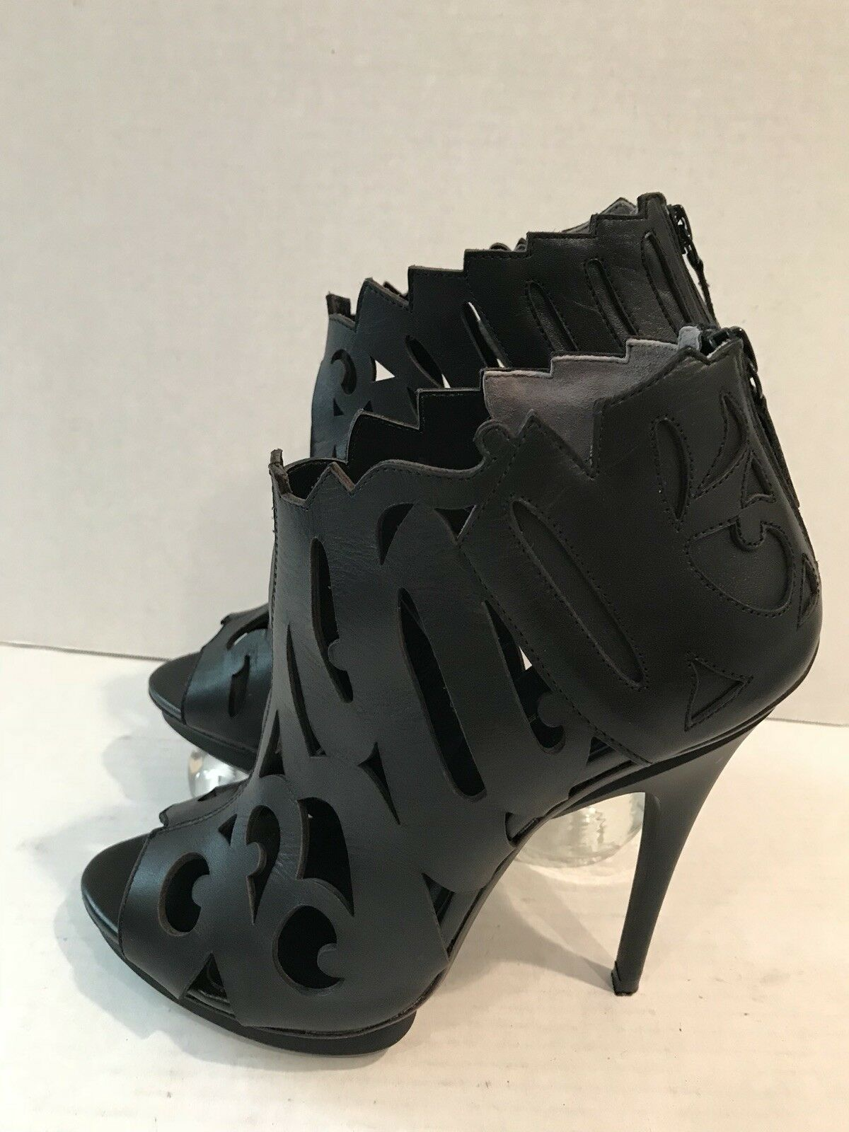 United Nude Womens High Heel Ankle Booties Black Leather Size 39 EUR 8.5 US