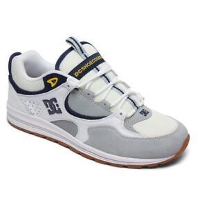 DC Shoes Kalis Lite, Zapatillas de Skateboarding para Hombre, Blanco (Blanco/(WYY White/Grey/Yellow) WYY), 39 EU