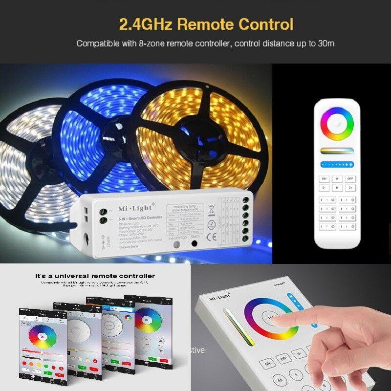 Mi-light ls2 8 RGB zones WiFi WLAN APP RGB 8  CCT RVB  WW contrôleur DEL RGB RGBW Stripe e38388