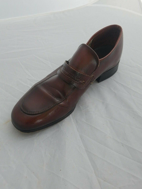 Vintage Gallenkamp Uomo Sz 11 Classic Reddish marrone Penny Loafer Style