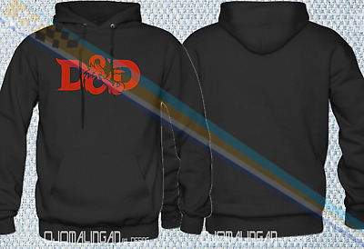 2XL NEW HOODIE Vintage Retro D /& D DUNGEONS /& DRAGONS RPG LONG SLEEVE SIZE XS