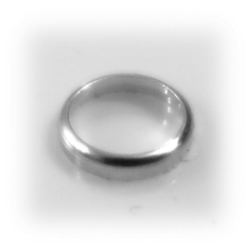 6 mm tubo redondo de plata esterlina redondeado Bisel Ajuste joyas Collet Rubover