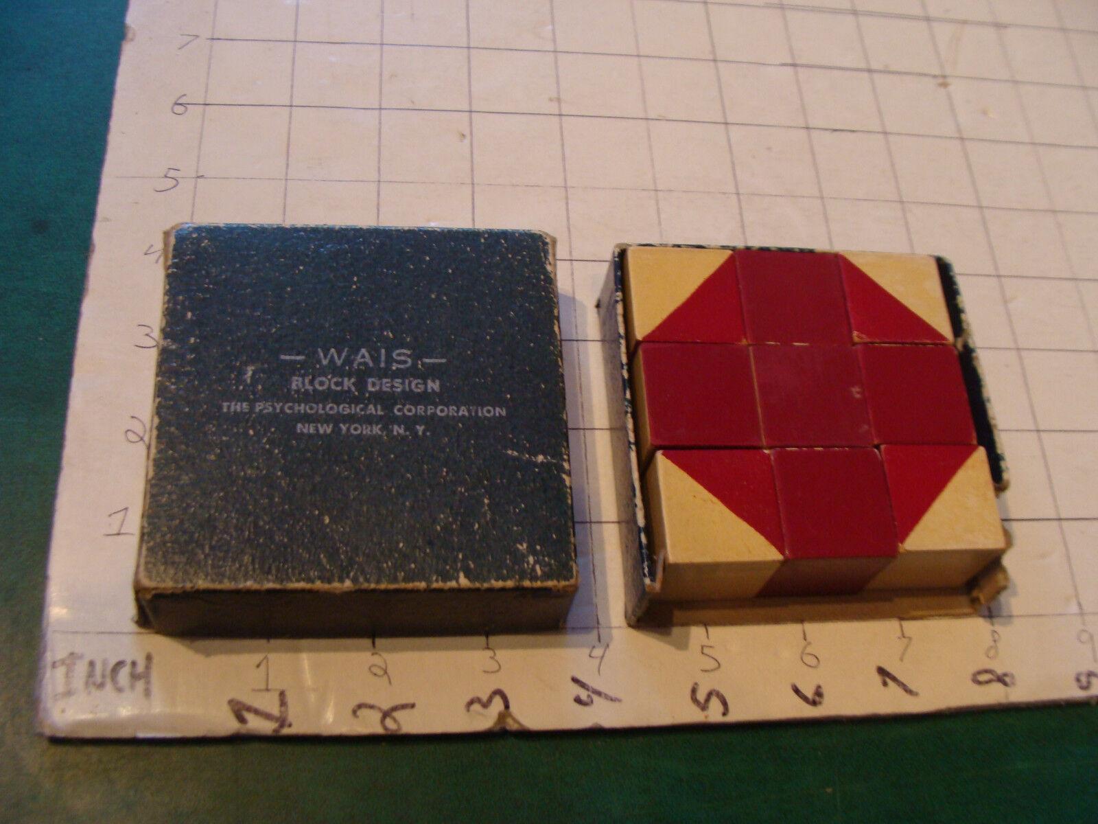 Vintage original puzzle  Early peint à la  main-Wais-Bloc desingn psychologique C  marques de créateurs bon marché