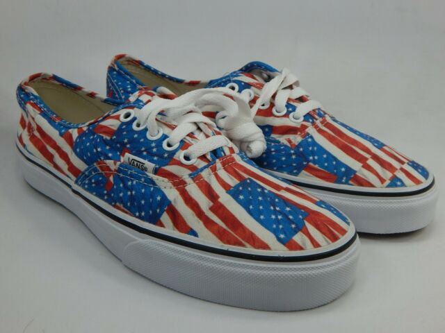 principal aburrido Lirio  VANS off The Wall Authentic American Flag Red White Blue Shoes Mens 11 for  sale online | eBay