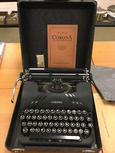 Vintage Smith Corona Sterling Portable Manual Typewriter w/ Case Floating Shift