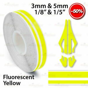 """LIME GREEN 15mm 9//16/"""" PIN STRIPE PinStriping Twin Line TAPE Decal Vinyl Sticker"""