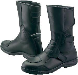 Prexport-San-Marco-Black-Leather-Waterproof-Motorcycle-Boots-New-RRP-99-99