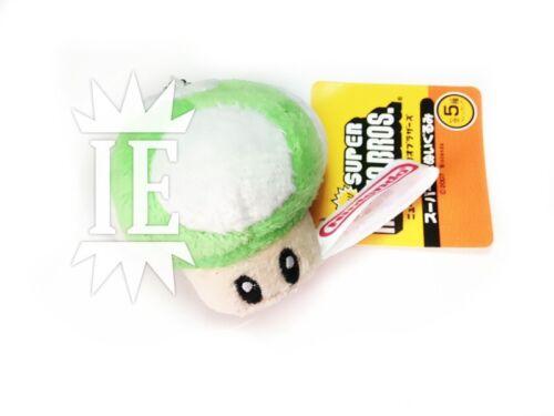 SUPER MARIO BROS. FUNGO VERDE PELUCHE 1UP VITA plush green portachiavi mushroom