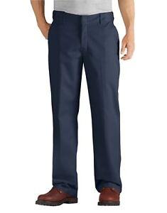Dickies FLEX Relaxed Fit Straight Leg Twill Comfort Pants Dark Navy WP824BK
