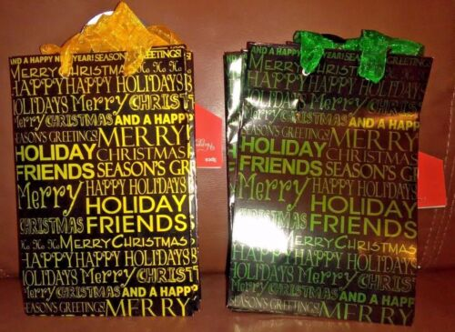 """Merry Christmas"" Small Gift Bags Set of 6"