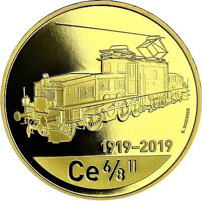 Aggressiv Schweiz 50 Franken 2019 Krokodil-lokomotive Ce6/8 Ii Münze Offiziell Ausverkauft
