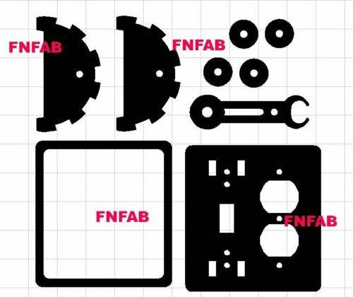 4 styles Steam punk light switch levers dxf files on CD for CNC cutting