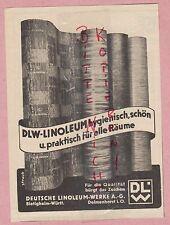 BIETIGHEIM, Werbung 1936, Deutsche Linoleum-Werke AG DLW Linoleum Fußbodenbelag