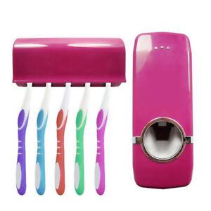 Automático Dispensador Para Pasta De Dientes Y Soporte Cepillos Dental Set Baño
