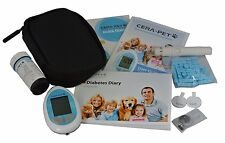 CERA Pet Vet Blood Glucose Diabetes Test Glucometer Monitor for Cats & Dogs