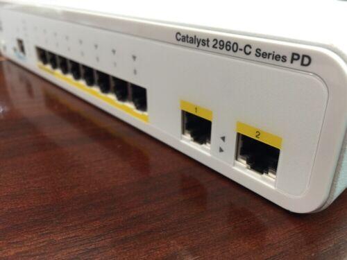 Cisco WS-C2960CPD-8PT-L 8-Port PoE As Is 2960 2960C NO Power Supply.