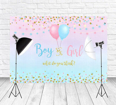 Gender Reveal Boy Or Girl Photography Backdrops Baby Photo Background Reusable Ebay