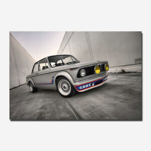 BMW Sport Super Race Car Wall Silk Canvas Poster 13x20 32x48/'/'