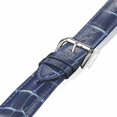 Blue Genuine Leather Crocodile Strap Band For Apple Watch 38mm 40mm 42mm 44mm The Latest Fashion Watches, Parts & Accessories