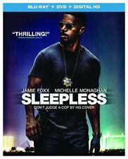 SLEEPLESS (2017 Jamie Foxx) - BLU RAY - Region free