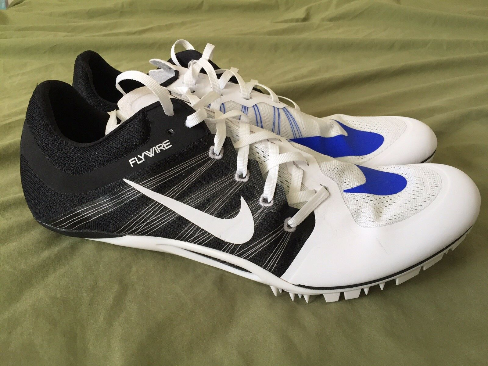 Nike JA FLY 2 Sprint Running Shoes 705373-100 White Blue MEN 15 BRAND NEW