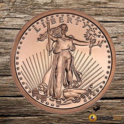 """/""""Saint Gaudens/"""" 1//4 oz .999 Copper Round"""