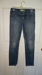 NICE-Women-039-s-Aeropostale-Bayla-Skinny-Denim-Jeans-Sz-1-2-Jr-COLOR-BLUE