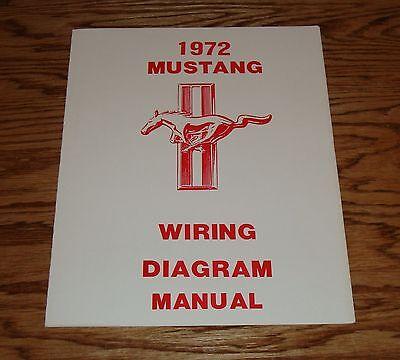 72 mustang wiring diagram 1972 ford mustang wiring diagram manual 72 ebay  1972 ford mustang wiring diagram manual