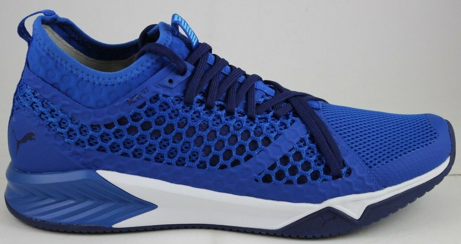 Puma Men's Ignite XT NETFIT 190057 02 Lapis bluee-Puma White New In Box