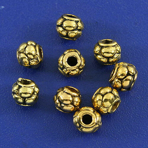 30pcs dark gold tone pumpkin spacer bead h3010
