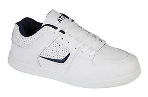 size 7 8 9 10 11 12 mens gents white faux leather casual