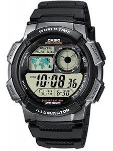 Casio-AE-1000W-1B-Orologi-Uomo-Batt-10-anni-5-Sveglie