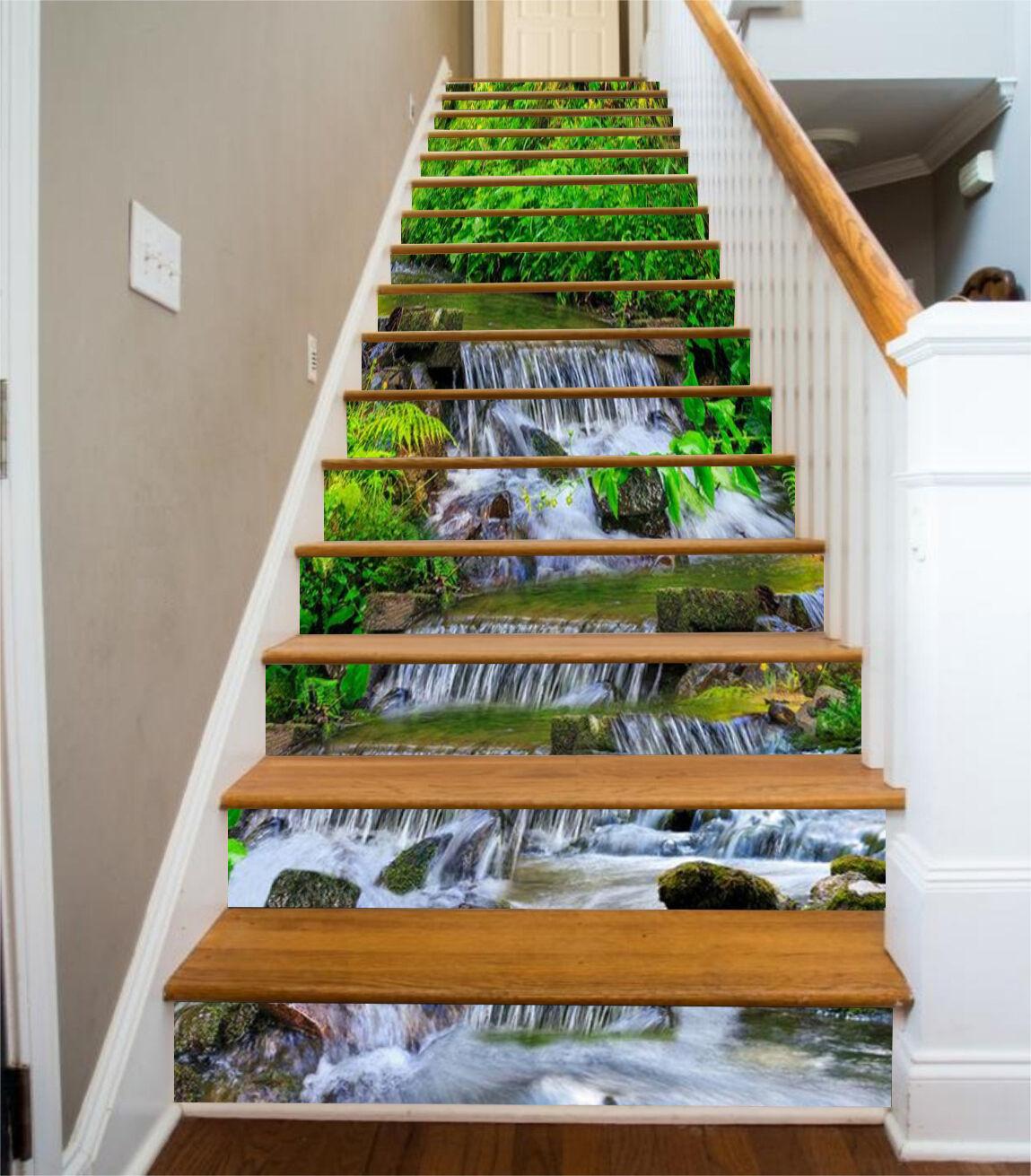 3D Frisch Natur 839 Stair Risers Dekoration Fototapete Vinyl Aufkleber Tapete DE