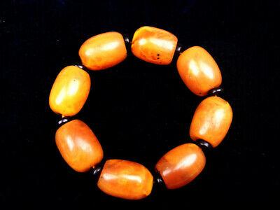 FäHig Tibetisch Bienenwachs Ovale Perlen Armreif Flexibler Profil Alle Größen