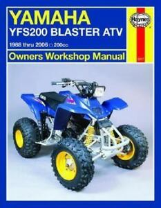 owners workshop manual yamaha yfs200 blaster atv 1988 thru 2006 rh ebay com 2003 yamaha blaster shop manual yamaha blaster workshop manual