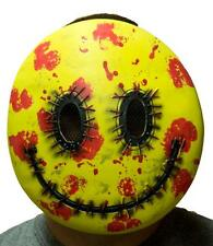 Bloody Happy Latex Face Mask Adult Scary Halloween Emoji Killer Smile Smiley