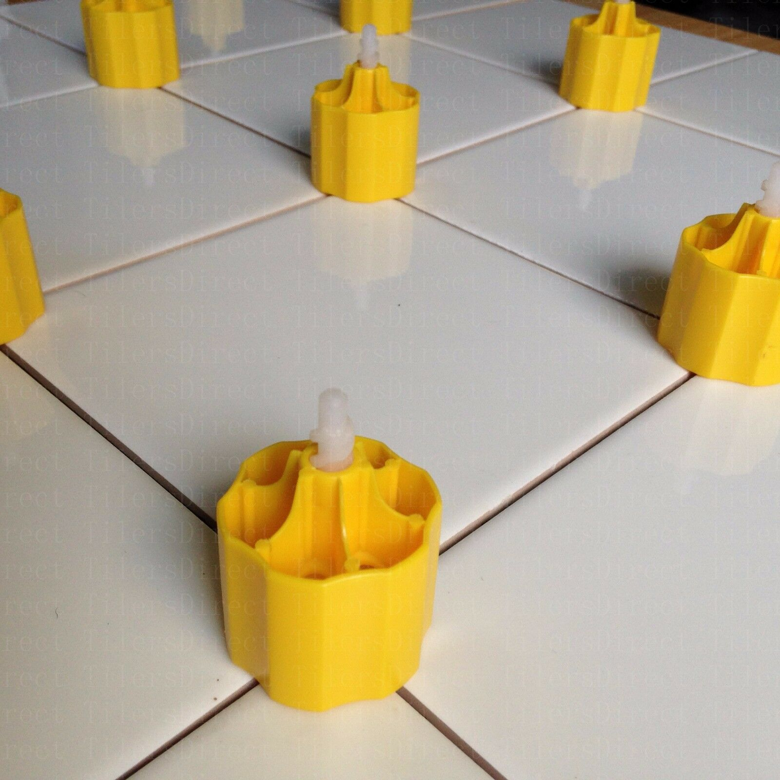 100 Caps+300 Spacers Tile Leveling System Cross Spacer Flooring Lippage Tools