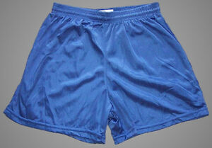 Soffe-Blue-Nylon-Mini-Mesh-Shorts-Men-039-s-Medium