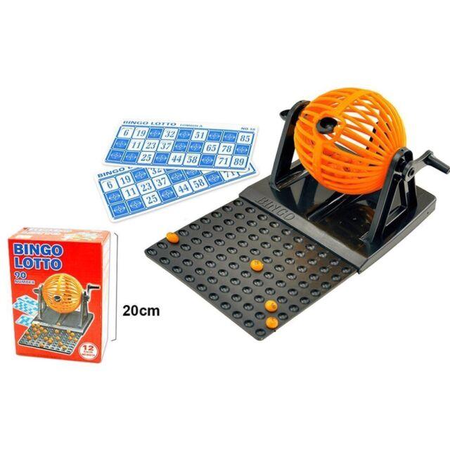 Bingo Lotto manual mini de 90 números bolas y 12 cartones Juego familiar
