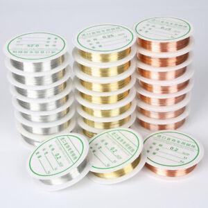 1-Roll-Craft-DIY-Jewelry-Making-Round-20-Gauge-Copper-Wire-0-2-1mm-AU
