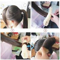 2Sponge Hair Styling Donut Bun Maker Magic Former Ring Shaper Styler Tool bien f