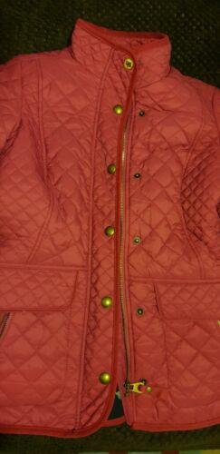 jas Joules roze gevoerde corduroy maat gewatteerde 8 kraag met zakken wwUZOHtq