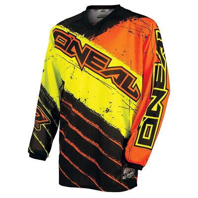 Fiducioso Oneal Mayhem Revolt Motocross Mx Mtb Jersey - Arancione/giallo