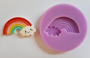 4cm-Arcobaleno-E-Cloud-Silicone-Stampo-Per-Torta-Topper-Cioccolato-Clay-Ecc