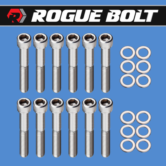 Ford Small Block 351 Windsor  Stainless Steel Intake Manifold Bolt Kit NEW