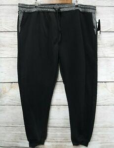 Southpole-Jogger-Pants-Mens-Size-5XB-Black-amp-Marled-Fleece-Sweat-Slim-Fit-New