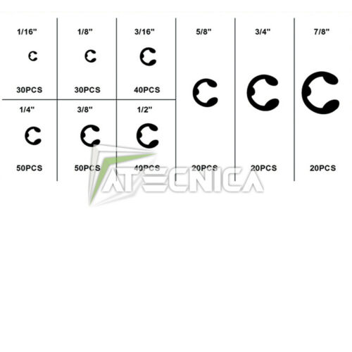 Assortimento kit 300 anelli elastici per esterni FERVI 0296 in oraganizer plasti