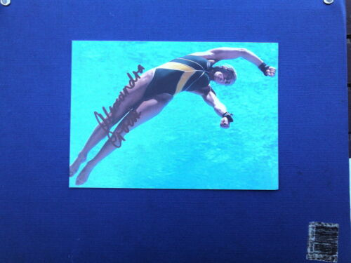 ALEXANDRA CROAK SIGNED SYNCHRO DIVING ACTION 7X5 PHOTO