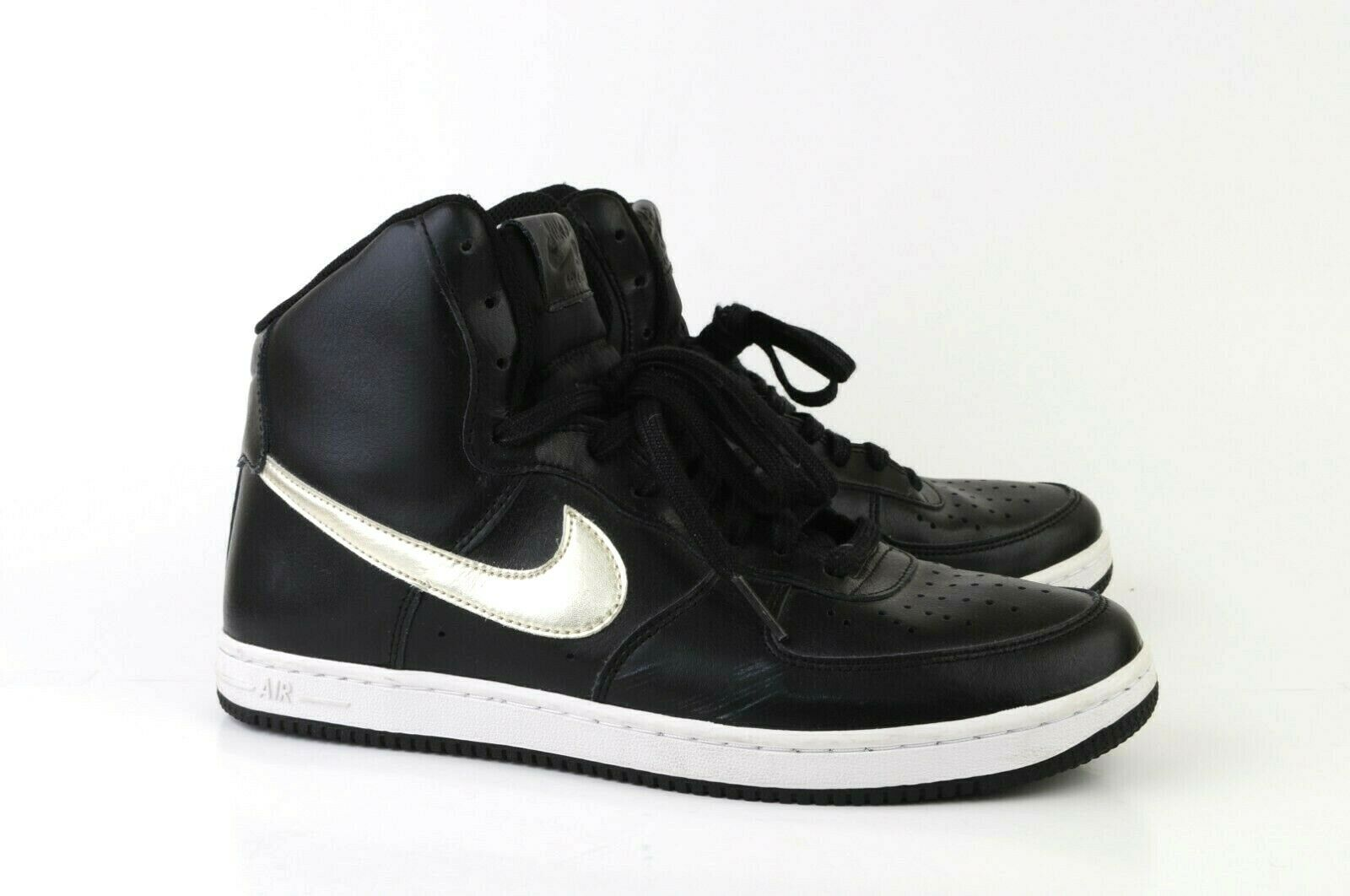 Nike Air Force 1 Black Basketball shoes Women's Size 9 High Top 525395-011